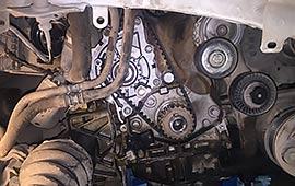 Замена цепи и ремня ГРМ Land Rover Freelander