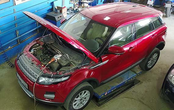 Диагностика двигателя Range Rover Evoque
