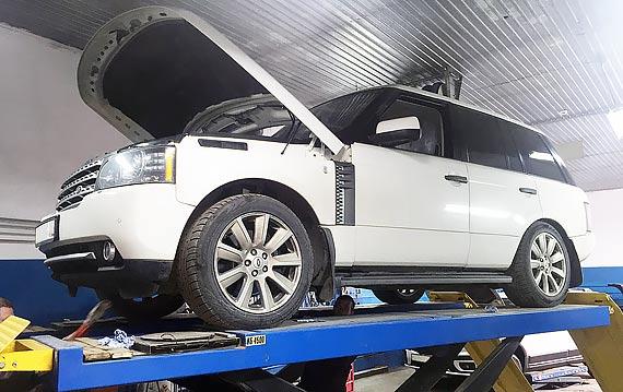 Замена масла в акпп Land Rover