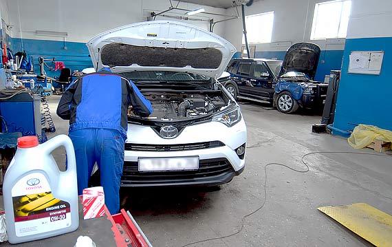 Замена масла в Toyota Rav 4
