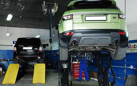 Замена масла Range Rover Evoque