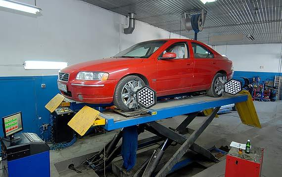 Регулировка развал схождения Volvo