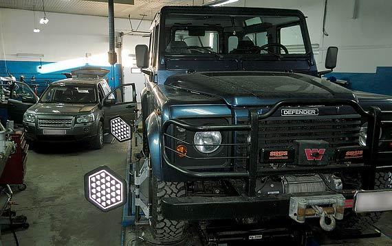 Развал схождение Land Rover Defender