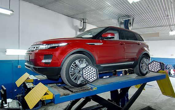 Развал схождение Range Rover Evoque