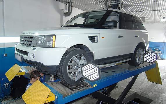Развал схождение Land Rover и Range Rover