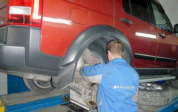 Ремонт подвески Land Rover Discovery