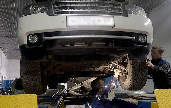 Ремонт подвески Range Rover Sport