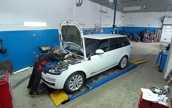 замена масла Range Rover Sport