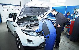 Техническое обслуживание Range Rover Evoque