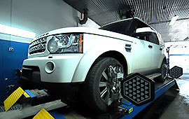 Развал схождение Land Rover Discovery