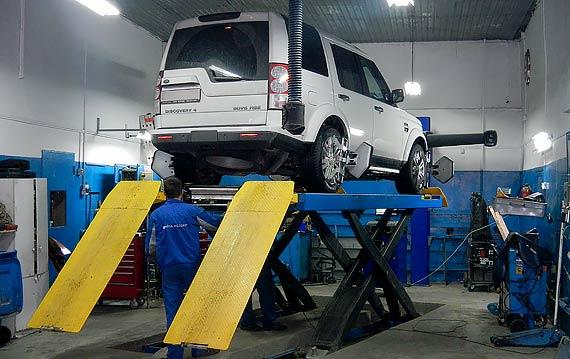 Развал схождение Land Rover