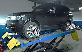 Развал схождение Range Rover